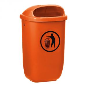 T102052 Gettacarte polietilene arancione da esterno 50 litri