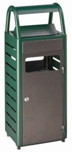 T103011 Green dapple silver Ashbin for outdoor areas 4+25 liters