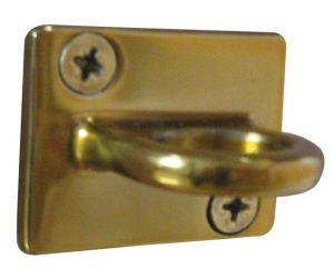 T103311 Anello acciaio dorato per fissaggio murale sistema divisorio a corda