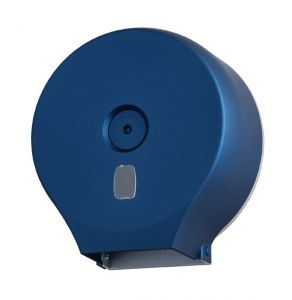 T104305 Roll toilet paper dispenser abs blue soft touch 400 mt