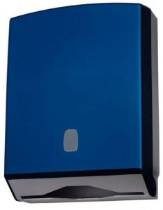 T104320 Towel paper dispenser blue ABS soft-touch 400 sheets