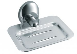 T105217 AISI 304 Brushed stainless steel soap holder