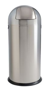 T106031 Polished stainless steel Push bin 52 liters