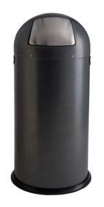 T106034 Gettacarte push metallo silver punteggiato 52 litri