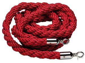 T106321 Cordone rosso bordeaux gancio inox per sistema divisorio 1,5 metri