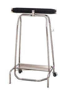 T107500 Stainless steel Wheeled pedal operated sack holder hermetic closure