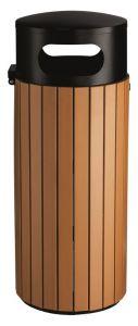 T110501 Litter bin Black steel/brown polystyrene 60 liters