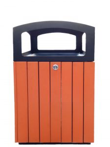 T110516 Square litter bin for outdoor spaces 70 liters