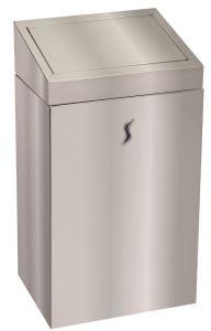 T110520 Gettacarte bagno acciaio inox AISI 304 brillante con coperchio push