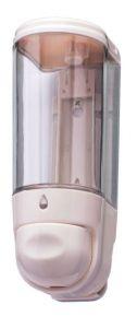 T110550 Mini liquid soap dispenser 0,3 lt White ABS