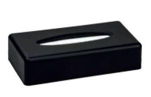 T130005 Porta fazzoletti rettangolare ABS nero
