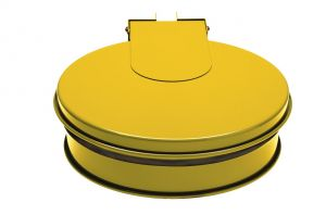 T601016 Bag holder with lid YELLOW