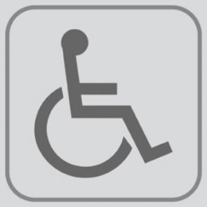 T701024 PVC sticker Pictogram Wheelchair (multiple of 5 pcs)