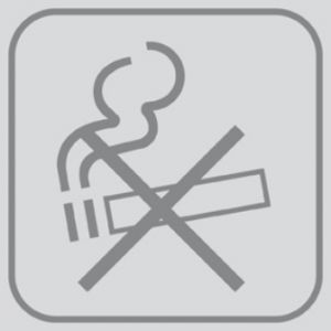 T701027 PVC sticker No smoking (Pack of 5 pieces)