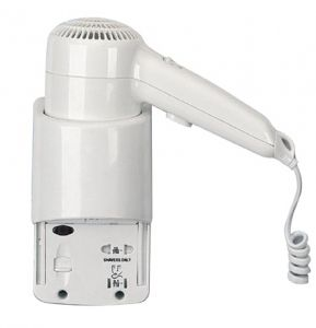 T704001 Wall mounted hair dryer side with shaver socket