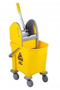T705000 Single bucket mop trolley with wringer 25 lt