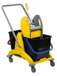 T705001 Carrello pulizia doppiavasca con strizzatore 50 litri
