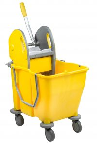 T705002 Double bucket mop trolley with wringer 50 lt