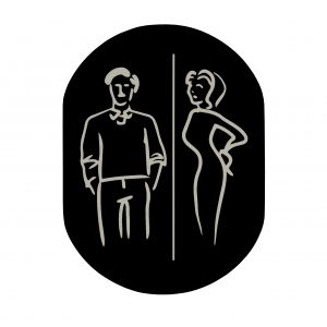 T719916 Man Woman pictogram bathroom Black aluminium