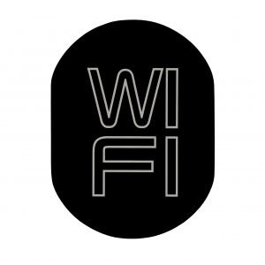 T719919 Wi FI pictogram Black aluminium