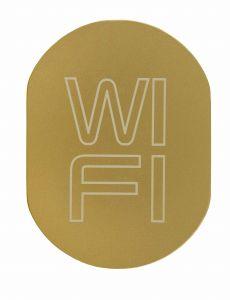T719939 Targhetta alluminio dorato WI FI