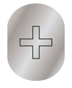 T719958 Infermery pictogram Brushed aluminium