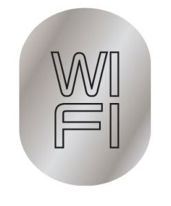 T719958 Brushed aluminium WI FI pictogram