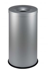 T770022 Grey steel fireproof wastebin 90 liters