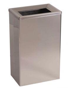 T773006 Brushed stainless steel 25 lt Waste bin