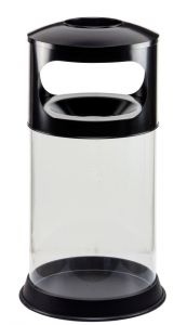 T774001 Portacenere-gettacarte antifuoco trasparente 110 litri