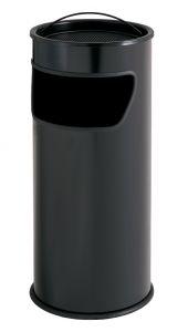 T775011 Portacenere-gettacarte 25 litri metallo nero con sabbia inclusa
