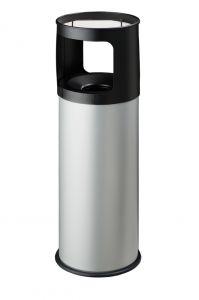 T775032 Fireproof ashbin Grey steel 30 liters with sand