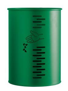 T778002 Gettacarte cilindrico acciaio verde da esterno 22 litri