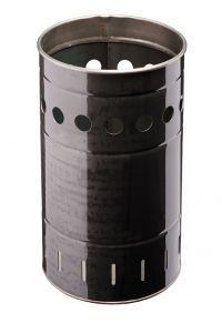T778032 Hot worked iron bin for outdoor areas 35 liters