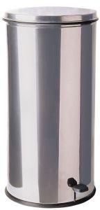T790621 Contenitore in acciaio inox cilindrico con pedale 70 litri