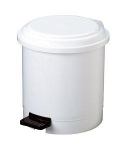 T906503 Pattumiera in plastica bianca a pedale 3 litri (confezione da 12 pezzi)