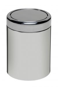 T906607 Polished AISI 304 Stainless steel swing paper bin 7 liters