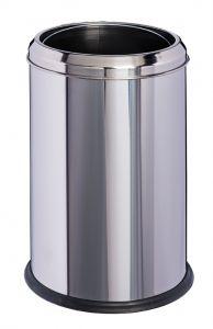 T906701 Gettacarte cilindrico acciaio inox brillante 8 litri