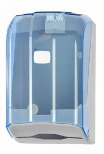 T908125 Interfold toilet tissue dispenser blue ABS