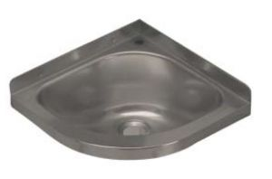 LX1480 Lavabo ad angolo con foro rubinetto in acciaio inox 360x360x208 mm - SATINATO -