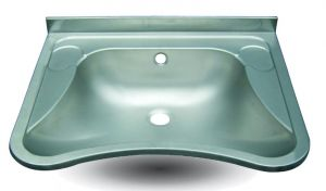 LX1490 Washbasin for disabled people in stainless steel AISI 304 650x540x156 mm - SATIN-