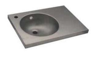 LX1560 Lavabo con piano in acciaio inox 450X350X125 mm - SATINATO -