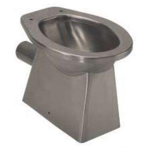 LX3010 WC in acciaio inox carenato scarico parete 520x365x375 mm - SATINATO -