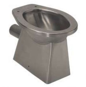 LX3010 stainless steel toilet with wall drain 520x365x375 mm - SATIN -