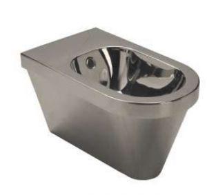"""LX3070 Bidet sospeso """"Olimpico"""" in acciaio inox  595x335x350 mm - SATINATO -"""