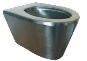 """LX3100 WC sospeso """"Scheraton"""" in acciaio inox 550x350x340 mm - SATINATO -"""