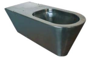 LX3150 WC disabili sospeso o a pavimento inox 650x340x330 mm - SATINATO -
