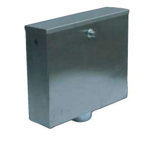 LX3190 Cassetta di scarico a pulsante  400x112x373 mm SATINATO