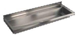 LX1760 Gutter at bent 1000x400x122 mm AISI 304 mm AISI 304 - SATIN