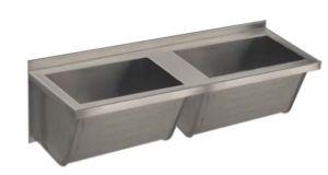 LX1830 Washbasin 1400x500x350 mm AISI 304 - SATIN